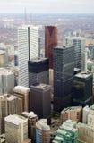 Opinião aérea da skyline de Toronto Fotografia de Stock