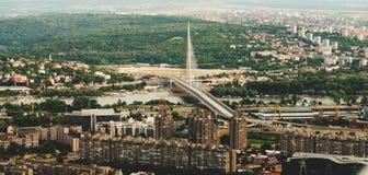 Opinião aérea da skyline - paisagem da cidade Fotos de Stock