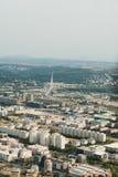 Opinião aérea da skyline - paisagem da cidade Imagens de Stock