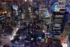 Opinião aérea da skyline urbana da arquitetura da cidade Imagem de Stock Royalty Free
