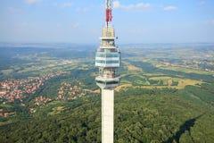 Opinião aérea da torre da televisão Foto de Stock Royalty Free