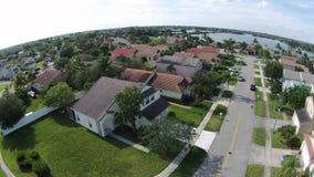 Opinião aérea das casas suburbanas foto de stock