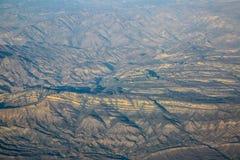 Opinião aérea das montanhas de Califórnia Imagens de Stock Royalty Free