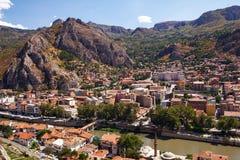 Opinião aérea de Amasya Imagem de Stock Royalty Free