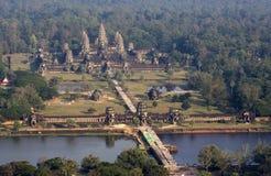 Opinião aérea de Angkor Wat imagens de stock