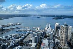 Opinião aérea de Auckland, Nova Zelândia foto de stock royalty free