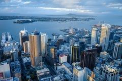 Opinião aérea de Auckland, Nova Zelândia imagem de stock