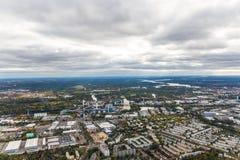 Opinião aérea de Berlim 'Siemensstadt ' imagem de stock