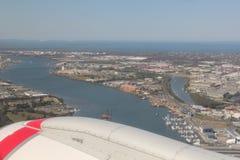 Opinião aérea de Brisbane Fotos de Stock Royalty Free