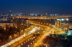 Opinião aérea de Bucareste foto de stock royalty free