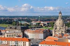 Opinião aérea de Dresden imagem de stock royalty free