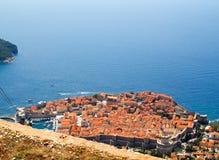Opinião aérea de Dubrovnik Imagem de Stock