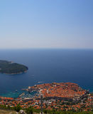 Opinião aérea de Dubrovnik Imagens de Stock