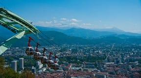 Opinião aérea de Grenoble Fotos de Stock