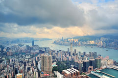 Opinião aérea de Hong Kong foto de stock royalty free