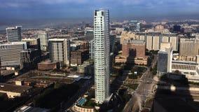 opinião aérea de 4K UltraHD centro da cidade de Dallas, Texas filme