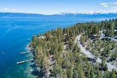 Opinião aérea de Lake Tahoe fotografia de stock royalty free
