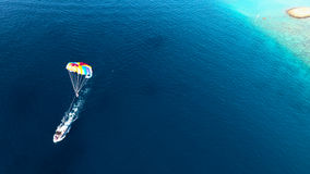 Opinião aérea de Maldivas Fotografia de Stock