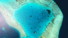 Opinião aérea de Maldivas fotos de stock royalty free