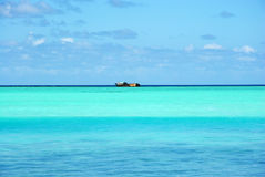 Opinião aérea de Maldivas fotografia de stock royalty free