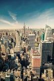 Opinião aérea de Manhattan Fotos de Stock Royalty Free