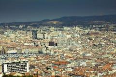 Opinião aérea de Marselha fotografia de stock royalty free