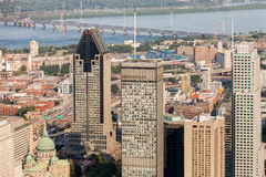Opinião aérea de Montreal Fotos de Stock Royalty Free