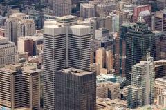 Opinião aérea de Montreal Fotografia de Stock Royalty Free
