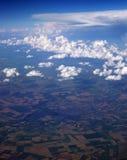 Opinião aérea de nuvens de cúmulo-nimbo Imagem de Stock