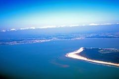 Opinião aérea de Oceano Atlântico Fotografia de Stock Royalty Free