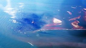 Opinião aérea de Oceano Atlântico Imagem de Stock Royalty Free