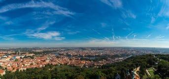 Opinião aérea de Panoramik da cidade de Praga Foto de Stock Royalty Free