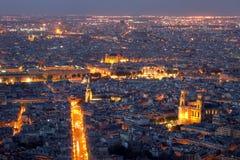 Opinião aérea de Paris (01), France imagens de stock royalty free