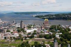 Opinião aérea de Quebec City Foto de Stock