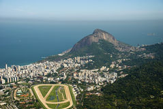Opinião aérea de Rio Imagens de Stock Royalty Free
