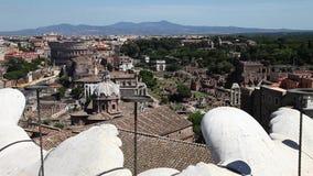 Opinião aérea de Roman Forum vídeos de arquivo