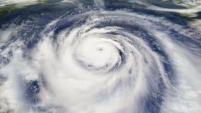 Opinião aérea de satélite de tempo do furacão filme