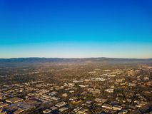 Opinião aérea de Silicon Valley Imagem de Stock Royalty Free