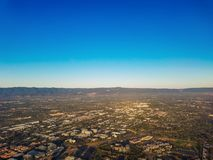 Opinião aérea de Silicon Valley Fotos de Stock Royalty Free