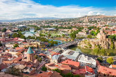 Opinião aérea de Tbilisi imagem de stock royalty free