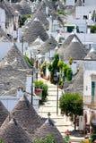 Opinião aérea de Trulli, Alberobello, Italy Fotografia de Stock Royalty Free