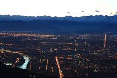 Opinião aérea de Turin fotografia de stock royalty free