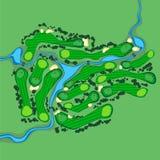 Opinião aérea do campo de golfe do vetor ilustração do vetor