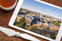 Opinião aérea do centro de Fort Collins Imagens de Stock Royalty Free