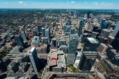 Opinião aérea do centro de Toronto Canadá foto de stock