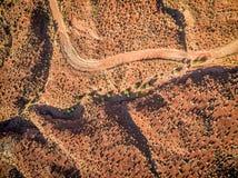 Opinião aérea do deserto no nascer do sol Fotos de Stock Royalty Free