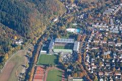 Opinião aérea do estádio de Freiburg Fotografia de Stock