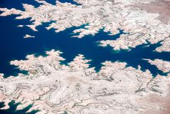 Opinião aérea do hidromel do Rio Colorado e do lago Imagens de Stock Royalty Free