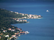 Opinião aérea do louro mediterrâneo Fotografia de Stock Royalty Free