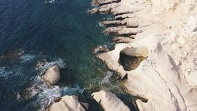 Opinião aérea do mar bonito video estoque